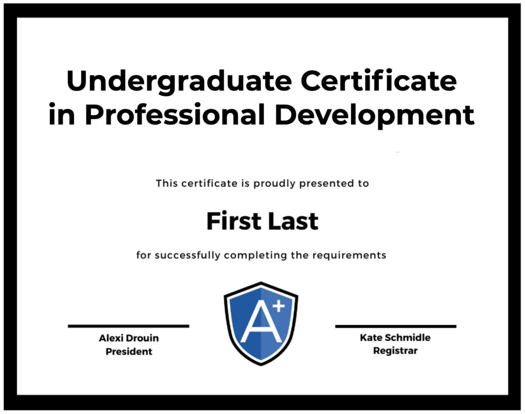 A UGPD Certificate