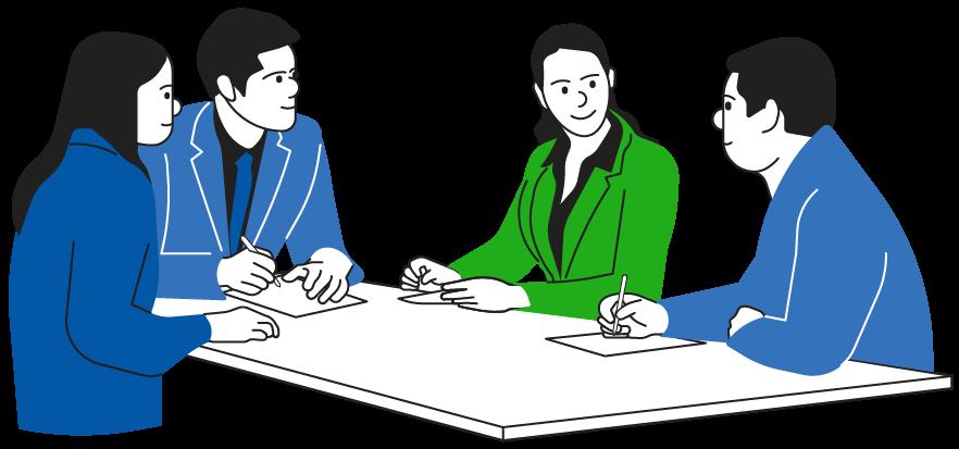 Business Meeting A green