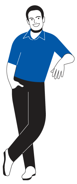 Guy Leaning Blue Dark